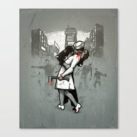 zombies Canvas Prints featuring Zombies by Ronan Lynam