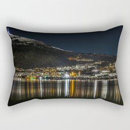 Mountain and City Rectangular Pillow