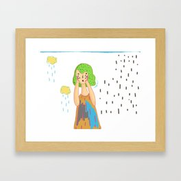 That feeling when it rains Framed Art Print
