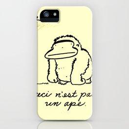 Ceci n'est pas un Ape iPhone Case