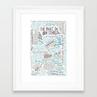 tfios Framed Art Prints featuring TFIOS quotes by digital detours