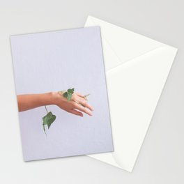 Let Go, Woman with Plants Stationery Cards