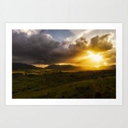 Four Seasons in Ireland Art Print