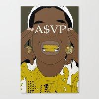 asap rocky Canvas Prints featuring ASAP Rocky by ashakyetra
