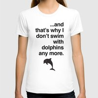 dolphins T-shirts featuring Dolphins by Tom Peno