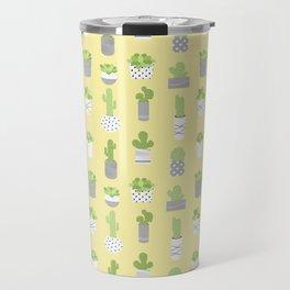 Succulents & Cacti - Yellow Travel Mug