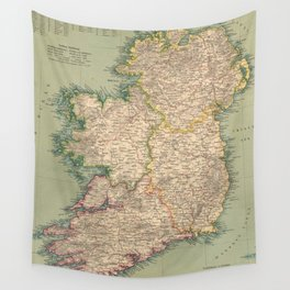 Vintage Map of Ireland (1888) Wall Tapestry