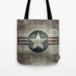 Stylized US Air force Roundel Tote Bag