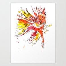Ink Lionfish Art Print
