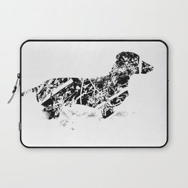 Dachshund in the snow Laptop Sleeve