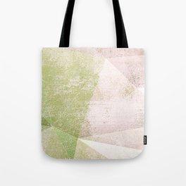 Frozen Geometry - Pink & Green Tote Bag