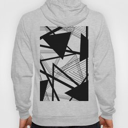 Black and White Abstract Geometric Part II Hoody