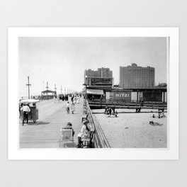 Atlantic City Boardwalk 1920, Apollo Theatre, Mitzi Art Print