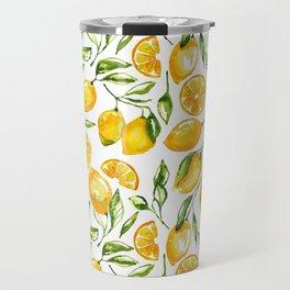 lemon watercolor print Travel Mug