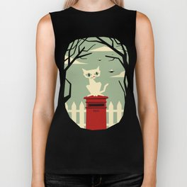 Let's meet at the red post box Biker Tank
