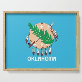 Oklahoma State Flag Serving Tray