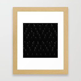 poppy seed dot pattern Framed Art Print