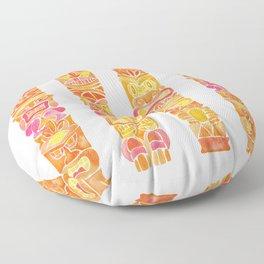 Tiki Totems – Orange Ombré Floor Pillow