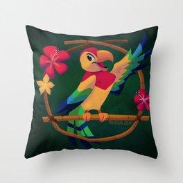 José the Tiki Bird Throw Pillow