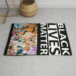 Black Lives Matter - African American Leaders and Heroes Rug
