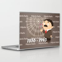 tesla Laptop & iPad Skins featuring Nikola Tesla by Alapapaju
