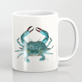 """Blue Crab"" by Amber Marine ~ Watercolor Painting, Illustration, (Copyright 2013) Coffee Mug"