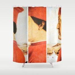 Art Remix of Piero della Francesca Shower Curtain