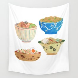 Noodle Bowls Wall Tapestry