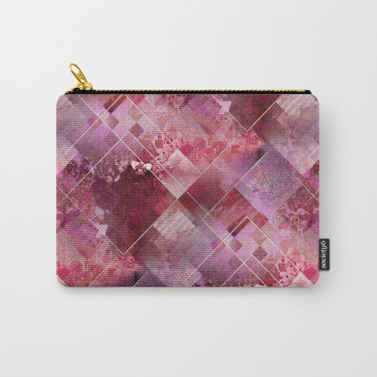 Marbleized Strawberry Carry-All Pouch