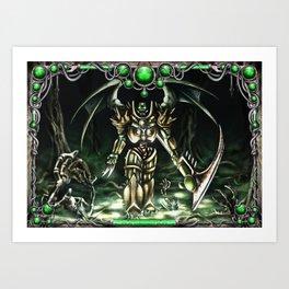Necropolis & Boarder Art Print