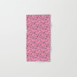 Holiday cheer hot pink Hand & Bath Towel