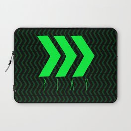Play Green and Black Laptop Sleeve
