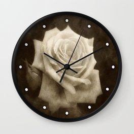 Pink Roses in Anzures 4 Antiqued Wall Clock