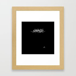 Savage trash Framed Art Print