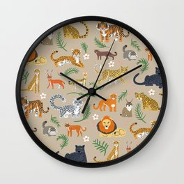 Exotic Cats Wall Clock
