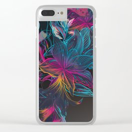 Floral art Clear iPhone Case