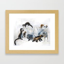 Awesome mustelids Framed Art Print