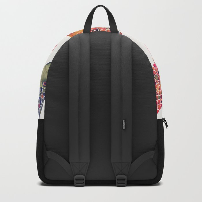 Indonesian Fish Duo – Navy & Coral Palette Backpack