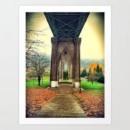 st. johns bridge Art Print