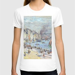 1874-Claude Monet-Port of Le Havre-60 x 102 T-shirt