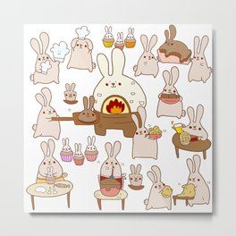 Baking buns Metal Print