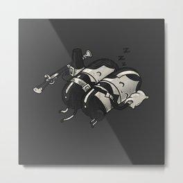Sleeping Pillgrims Metal Print