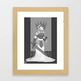 Chess Royalty: White Queen Framed Art Print