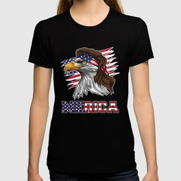 Patriotic Mullet Eagle | Independence Day July 4th T-shirt