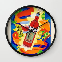 Vintage Cordial Campari Limited Edition Advertisement Poster #2 of 8 originally limited to 70 by Ugo Wall Clock