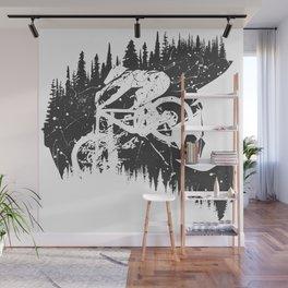 Black Fullface Wall Mural