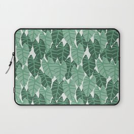 Alocasia indoor house plant hipster watercolor plant pattern botanical leaves green painting home Laptop Sleeve