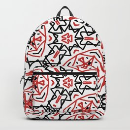 Frenetic from the Black & Red & White All Over Collection Backpack