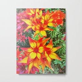 Flower Power Lily Metal Print