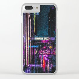 Midnight at Tiffany Clear iPhone Case